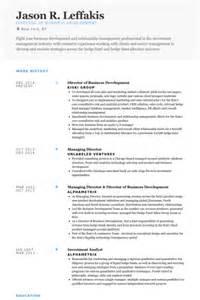 Business Development Director Sle Resume by Director Of Business Development Resume Sles Visualcv Resume Sles Database