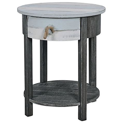 Grey Accent Table Lakeshore Accent Side Table In Blue Grey Bed Bath Beyond