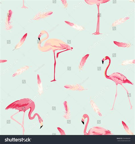 Flamingo Bird Retro Backgroundz flamingo bird background feather retro seamless stock