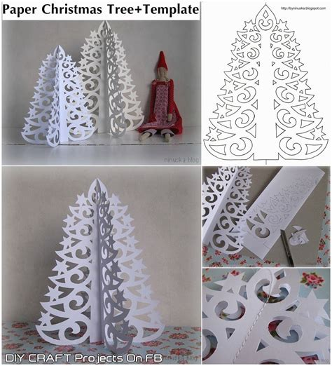 free printable christmas window decorations paper christmas tree with printable template step by step