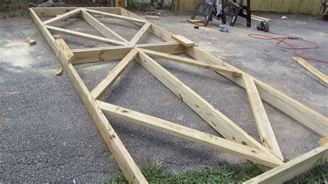 how to build a double swing wooden gate making a double gate youtube