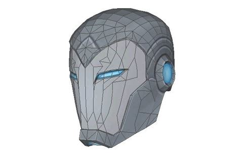 life size superior iron man helmet papercraft for cosplay