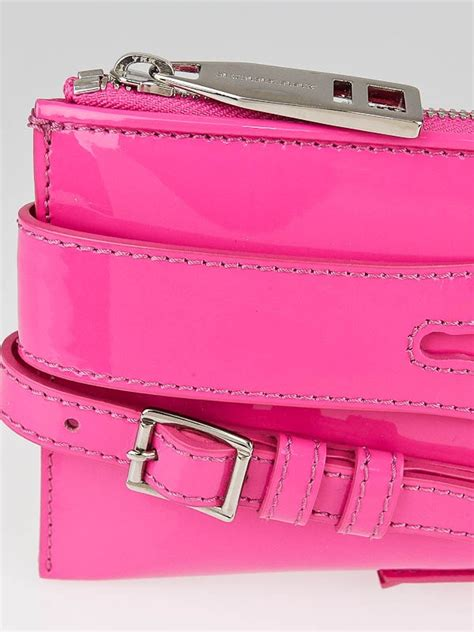 Burberry Patent Ashcombe Clutch Handbag by Burberry Pink Patent Leather Bridle Elongated Clutch Bag