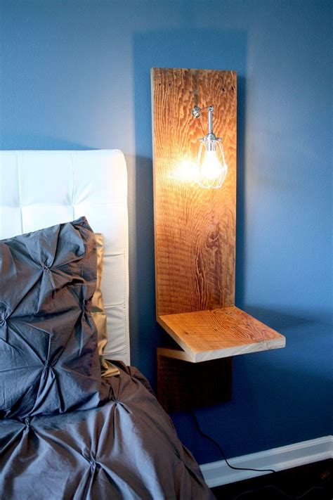 wall mounted nightstand bedside table woodworking