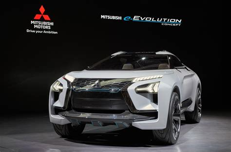 mitsubishi evolution concept mitsubishi e evolution concept debuts in ushers in