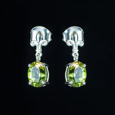 alexite fleur de lis sterling silver stud earrings 1 33