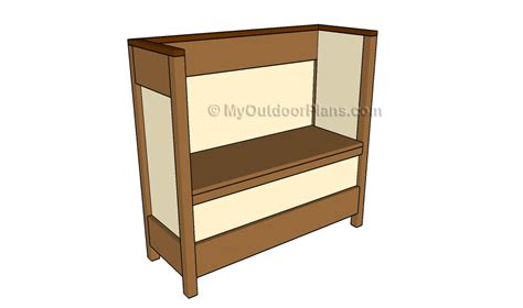 build a wooden storage bench plans to build a storage bench