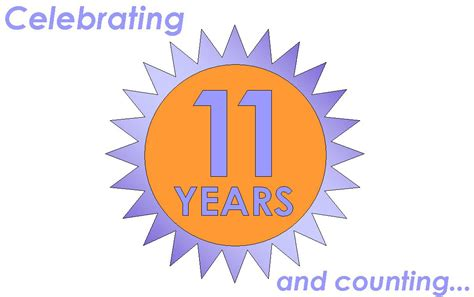 11 in years celebrating 11 years