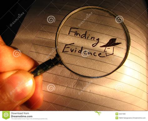 For Finding Finding Evidence Stock Photo Image 5567490