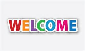 Vector welcome colored text paper design element