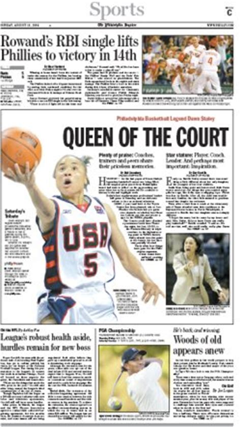 sports section newspaper philadelphia inquirer sunday sports editor