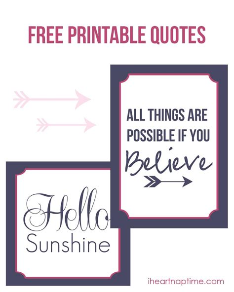 Printable Pictures Of Quotes | printable quotes to frame quotesgram