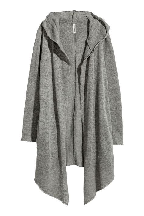 Cardigan Lp 5 hooded cardigan gray divided h m us