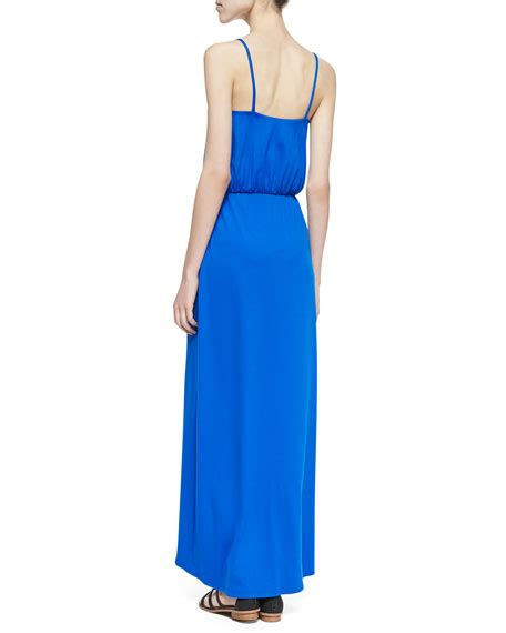 Emiliana Maxy susana monaco emilia cutaway maxi dress royal