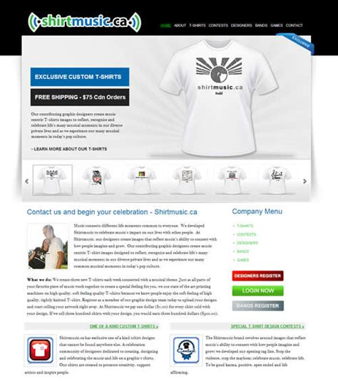 Tshirt Canada Bdc website design portfolio canada web design portfolio