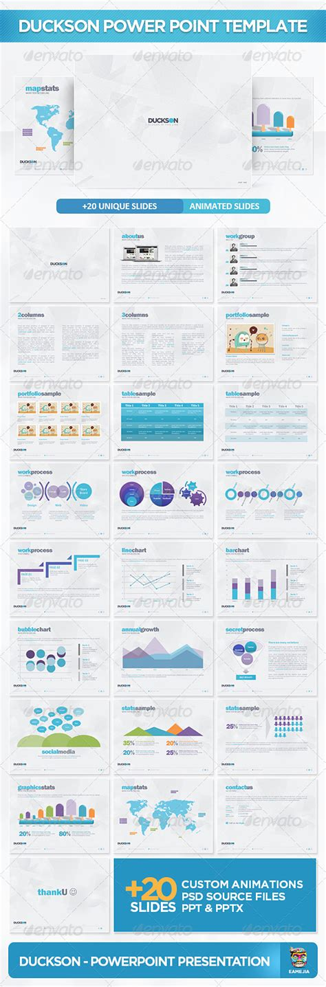 graphicriver powerpoint templates duckson powerpoint presentation template graphicriver