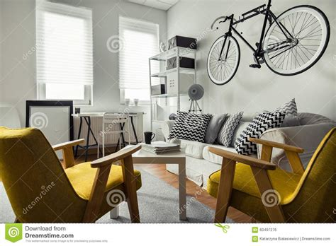 pictures to hang in living room bicycle hanging on the wall stock photo image 60497276
