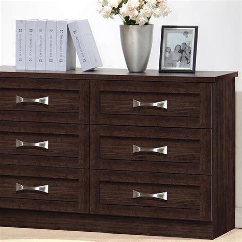 baxton studio colburn 6 drawer brown wood dresser