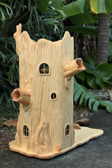 tree house doll house tree stump fairy house deluxe dolls house with furniture felt