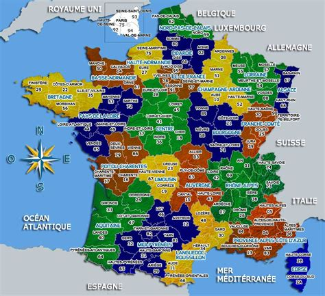 carte de france carte du monde