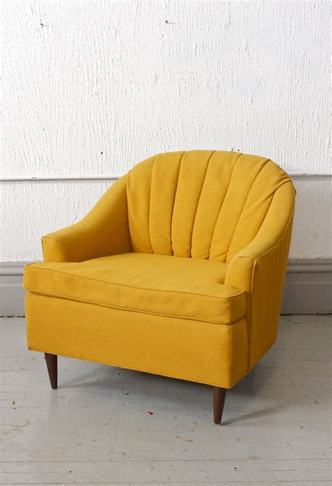 Yellow Wingback Armchair Beautiful Mid Century Modern Vintage Yellow Club Chair