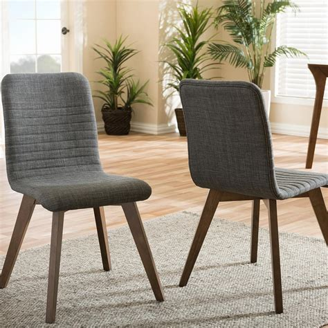2 dining chairs with steel frame light brown vidaxl com baxton studio broxburn light brown wood and metal dining