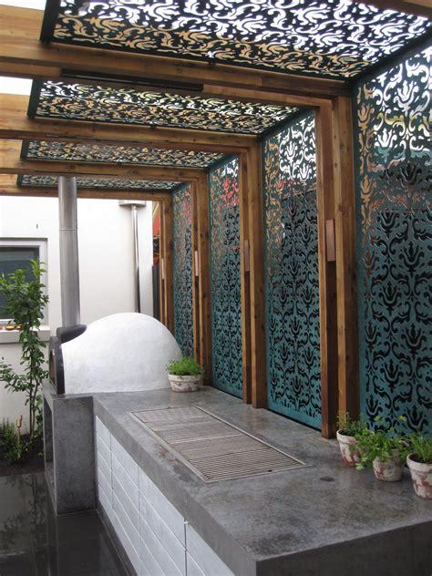 shade screen in a pergola interior shade