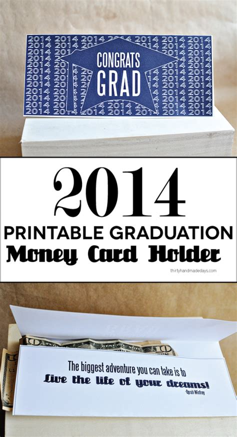 graduation gift card holder template printable graduation money holder card