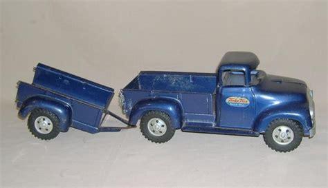 blue trailer original 1957 tonka blue stepside truck w original trailer