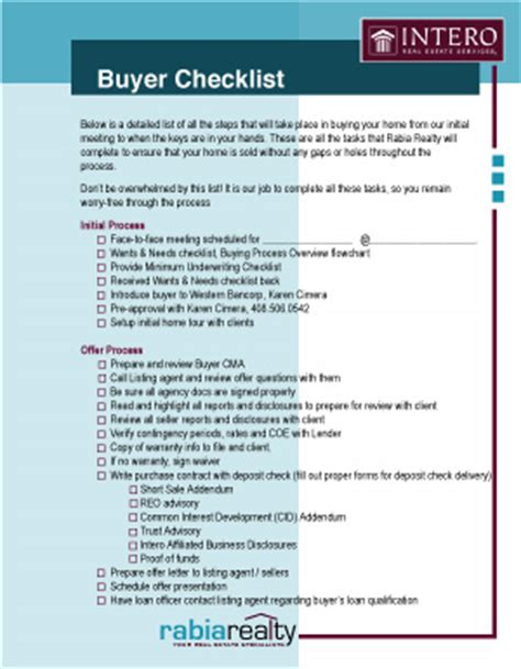 printable house buying checklist my buying approach rabia alizai