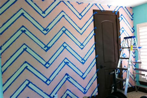 how to paint your room how to paint a chevron wall project nursery