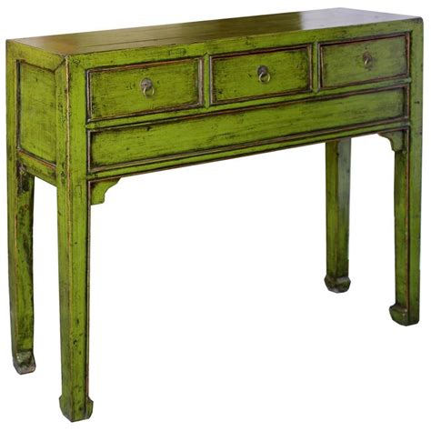 Lime Green Console Table At 1stdibs Green Sofa Table