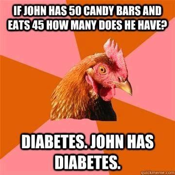 Rooster Jokes Meme - naive to diabetes me amelia and diabetes
