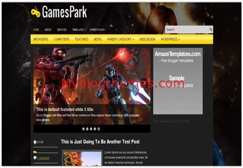 blogger themes dark black games dark blogger template free download