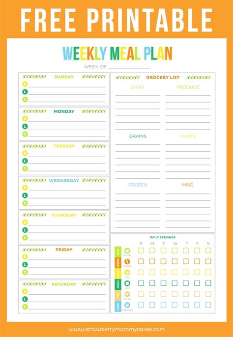 printable healthy meal planner free printable meal planner health symptoms and cure com