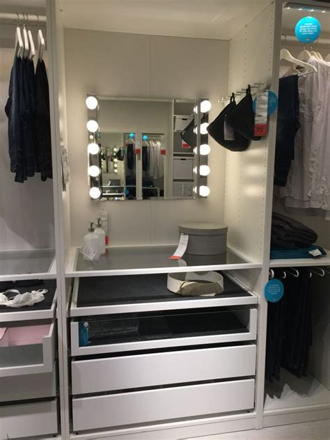Pax Wardrobe Builder by Pax Build In Makeup Station House Ideas