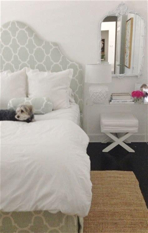 acrylic nightstand transitional bedroom luxe report