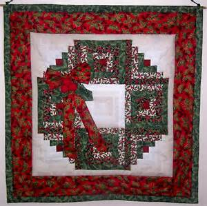 Quilt Pattern Wreath by Log Cabin Wreath Meeting Log Cabins Wreaths