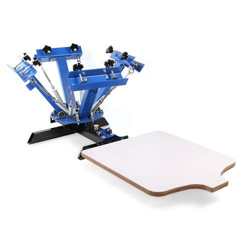 4 color press 4 color 1 station silk screen printing kit press equipment