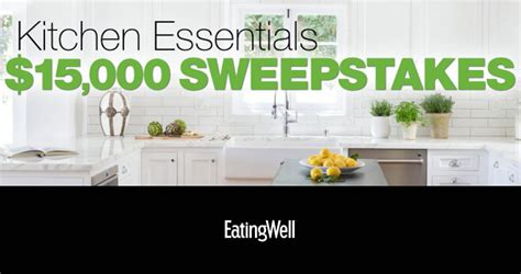 Eating Well Sweepstakes - win 15 000 worth of kitchen essentials from eatingwell