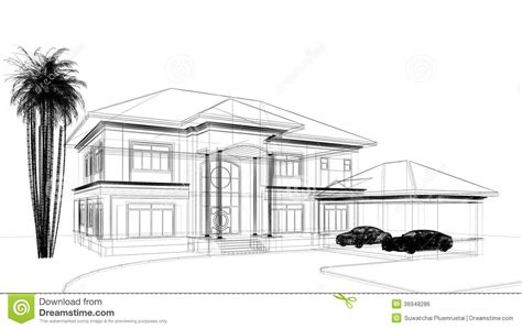 sketch design of house stock illustration image of sketch