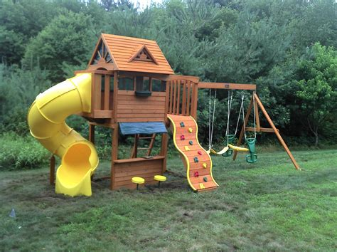 big backyard wooden playsets e street assembly big backyard cedar summit built