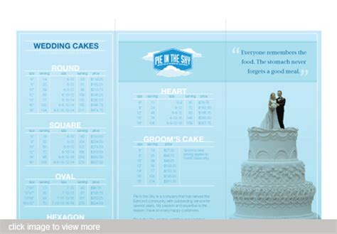 Wedding Cake Brochure by A Local Baker Needed A Brochure To Advertise Wedding