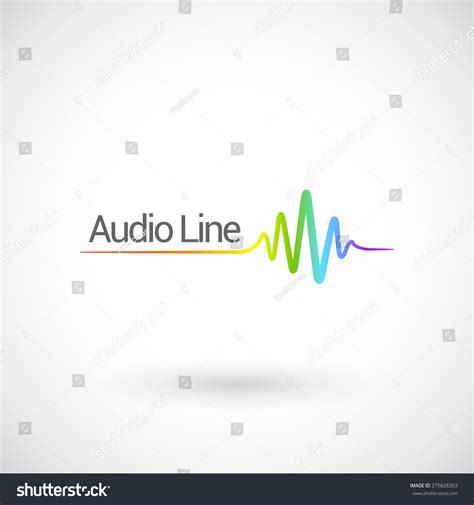 sound template sound audio waves vector logo design stock vector