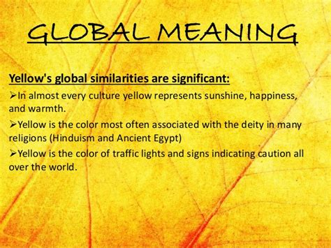 meaning of the color yellow yellow