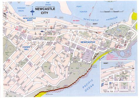 newcastle australia map map newcastle cbd