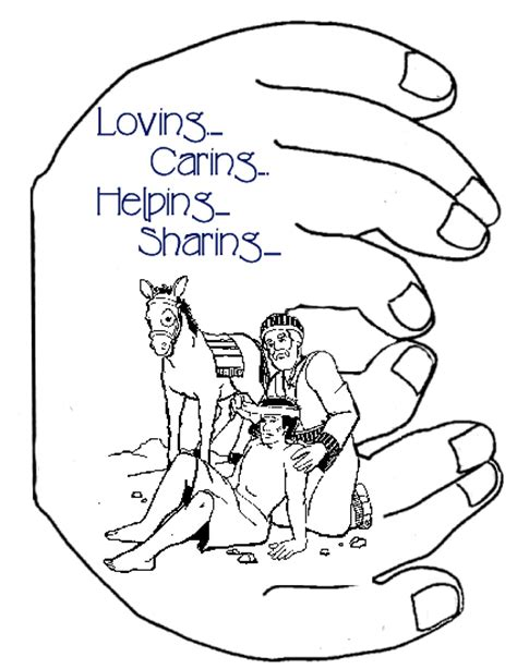 good samaritan coloring page for preschoolers free coloring pages of children helping others