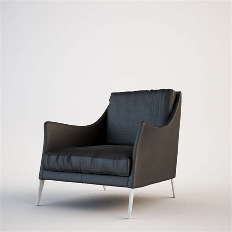 Flexform Armchair by Flexform Armchair 3d Max