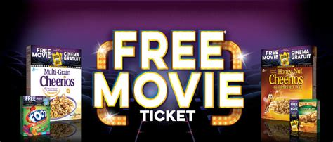 Cineplex Dinner And A Movie Gift Card - cineplex com freemovieoffer get free movie with your cereal