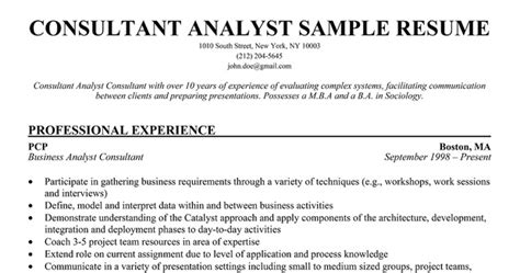 business consultant resume exle resume sles small business consultant resume